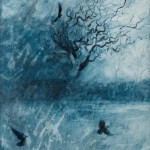 Jackdaw Hawthorn Acrylic on Panel 2014