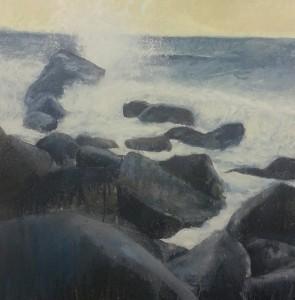 Beach V w.i.p Oil on Canvas 1m x 1m