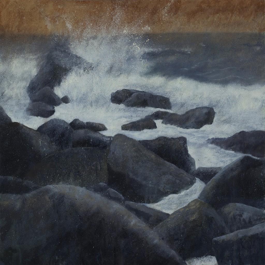Boulders V Oil on Canvas