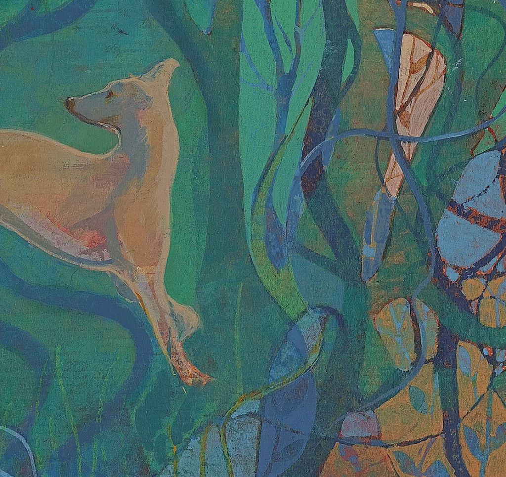 Illuminated whippet - detail